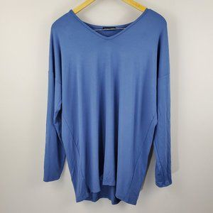New Eileen Fisher Long Sleeve Blue TOP Size 1X